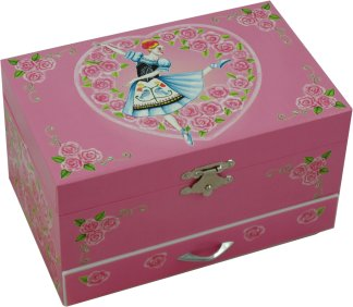Doll On A Music Box, Ballerina Musical Jewellery Box