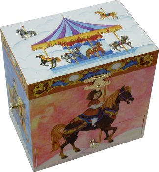 Carousel Musical Treasure Box