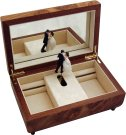 Luxury Musical Jewellery Box with Dancing Couple