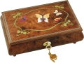 Butterflies Musical Jewellery Box